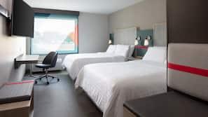 Pillowtop beds, desk, laptop workspace, blackout drapes