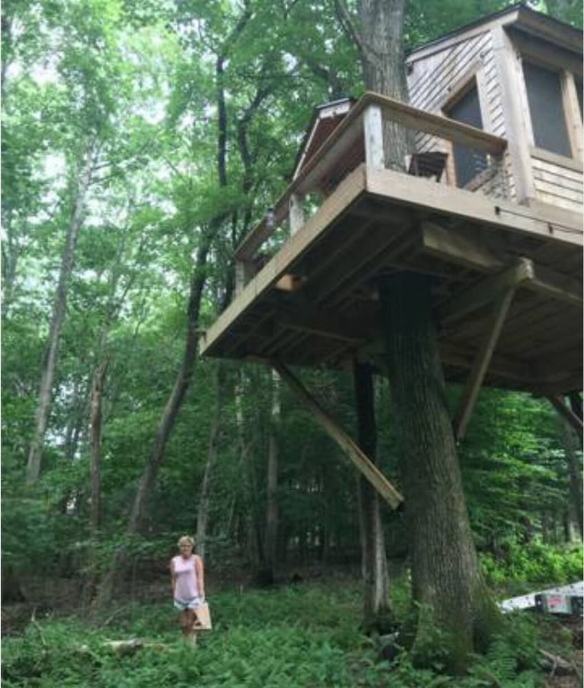 Property Grounds, TREEHOUSE PARADISE serene nature w resort-like pool close to URI, trails, beach