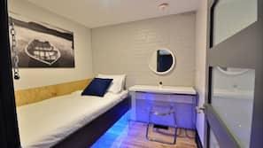 Memory foam beds, in-room safe, desk, free WiFi