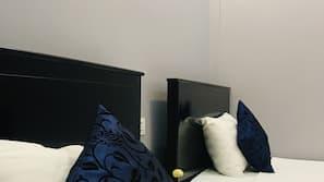 Desk, blackout drapes, soundproofing, free WiFi