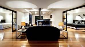 Smart TV, fireplace, Netflix, DVD player