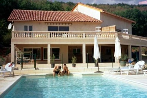 House With 2 Bedrooms in Saint-géry, With Wonderful Mountain View, Pool Access, Furnished Garden