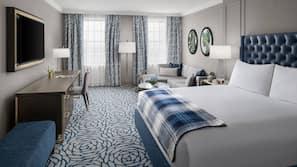 이탈리아 프레떼 시트, 고급 침구, 필로우탑 침대, 객실 내 금고