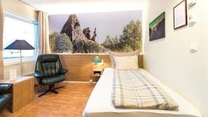 Skrivebord, lydisolert, gratis wi-fi og sengetøy