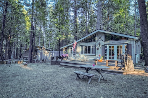 Family-friendly Cabin w/ a Wood Stove, Sunroom, & Forest Views - Dogs Welcome!