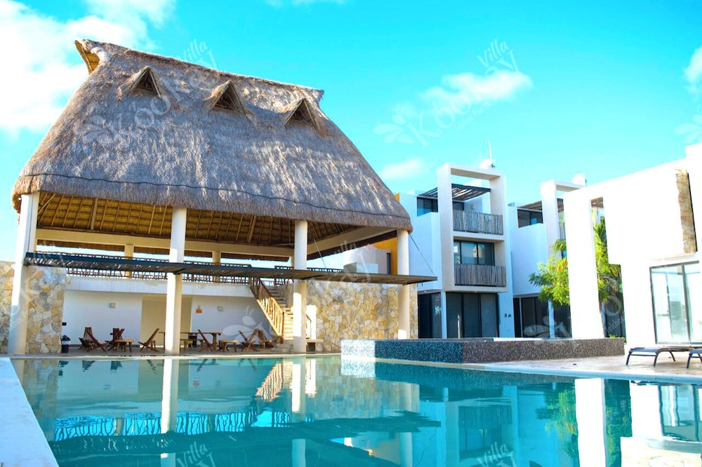 Featured Image, Villa Kookay · Chic Mexican Style Villa, Beach Club, Pool & Jacuzzi Yucatan Mex