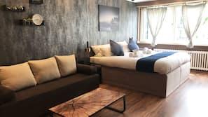 Hypo-allergenic bedding, desk, laptop workspace, free WiFi