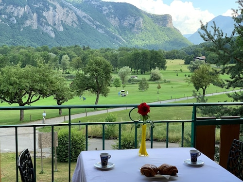 Balcony Golf With Pool 5 Minutes From Lake Annecy Mountains of Haute Savoie