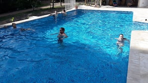 Outdoor pool, open 7:30 AM to 9:00 PM, pool umbrellas, sun loungers