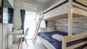 1 間臥室、書桌、窗簾、免費 Wi-Fi