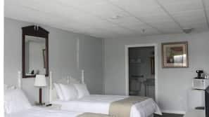 Premium bedding, pillowtop beds, blackout drapes, free WiFi