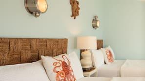 Premium bedding, desk, blackout drapes, rollaway beds