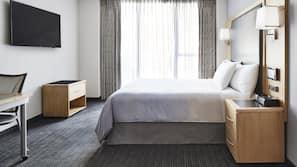 1 間臥室、高級寢具、書桌、手提電腦工作空間
