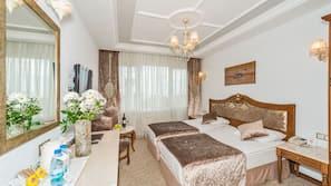 Premium bedding, down duvets, Select Comfort beds, minibar