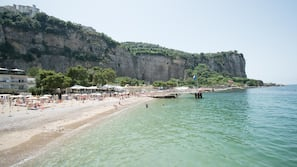 Private beach, beach towels, beach bar