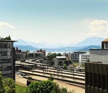 View from Property, Hotel Station Zug
