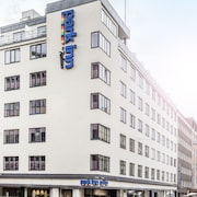 Hotellets inngangsparti