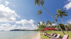海灘、免費海灘接駁車、太陽傘、沙灘巾