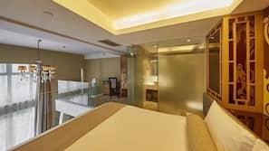 Down comforters, Select Comfort beds, minibar, in-room safe