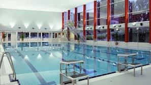 3 indoor pools, seasonal outdoor pool, sun loungers