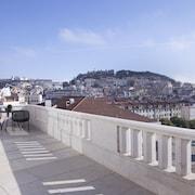 Uitzicht op de stad vanuit accom