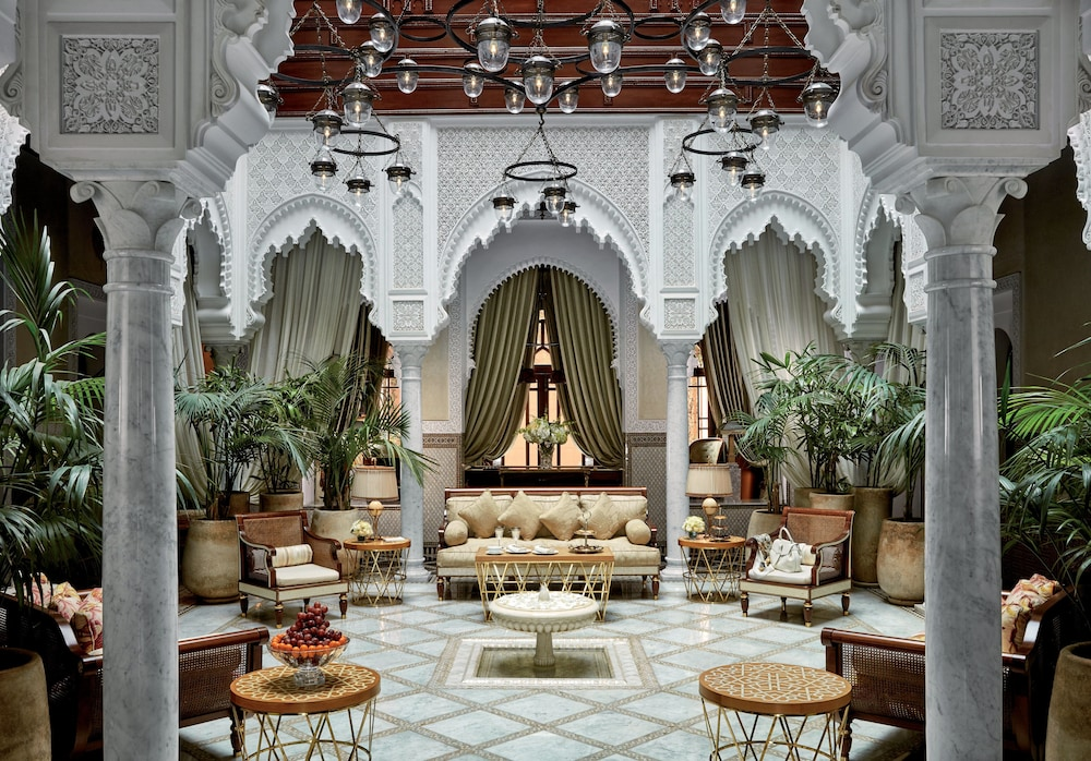 Electric vehicle charging station, Royal Mansour Marrakech