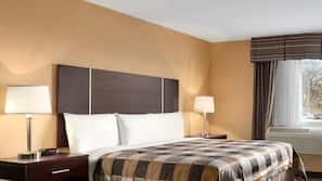 Down comforters, desk, iron/ironing board, free WiFi