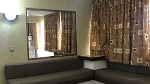 Down comforters, iron/ironing board, free WiFi, linens