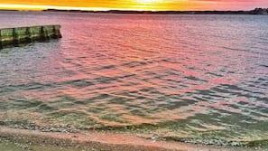 Private beach, sun loungers, kayaking, fishing