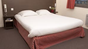 Memory-foam beds, desk, blackout curtains, soundproofing