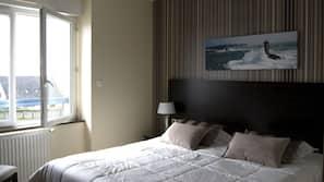 1 chambre, literie de qualité supérieure, rideaux occultants