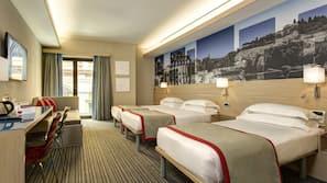 Hypo-allergenic bedding, down duvet, memory foam beds, in-room safe