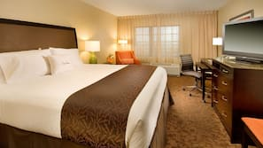 Pillow top beds, in-room safe, blackout curtains, iron/ironing board