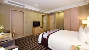 In-room safe, blackout curtains, free wired Internet, bed sheets