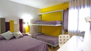 Blackout curtains, cots/infant beds, rollaway beds, free WiFi