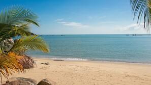 Private beach, free beach shuttle, beach umbrellas, beach towels