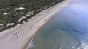 Plage privée, sable blanc, navette gratuite vers la plage