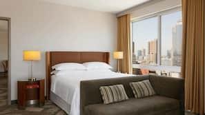 Down duvet, pillow top beds, in-room safe, desk
