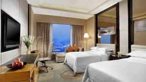 1 kamar tidur, seprai premium, isi minibar gratis, dan brankas