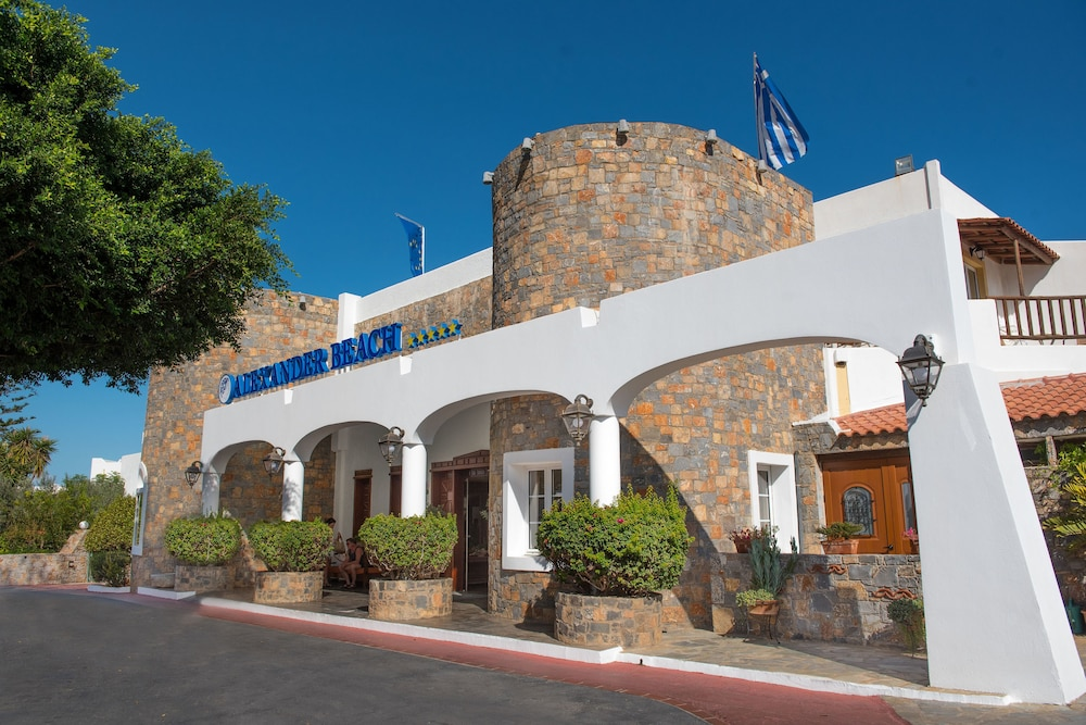 Property Entrance, Alexander Beach Hotel & Village