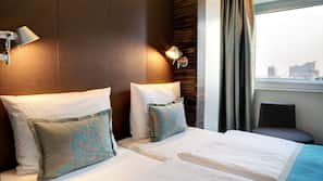 Allergitestet sengetøy, skrivebord, lydisolert og gratis wi-fi
