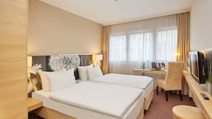 고급 침구, 셀렉트 컴포트 침대, 객실 내 금고, 각각 다르게 꾸며진