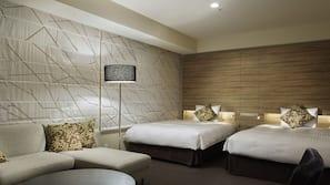 高級寢具、羽絨被、房內夾萬、窗簾