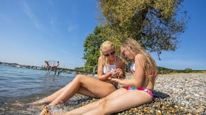 Private beach, sun loungers