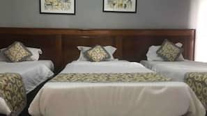 Ropa de cama de alta calidad, colchones Tempur-Pedic, minibar