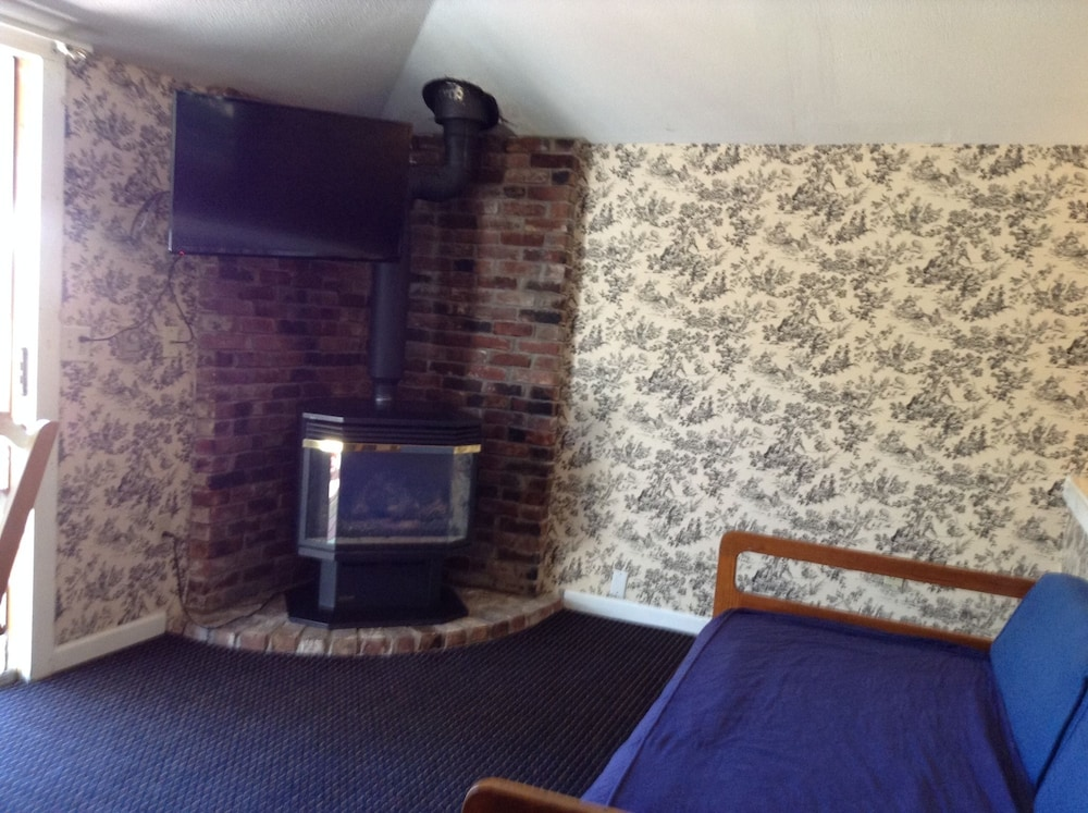 Fireplace, Villager Motel