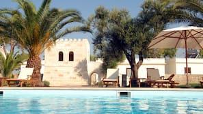 2 piscine all'aperto, ombrelloni da piscina