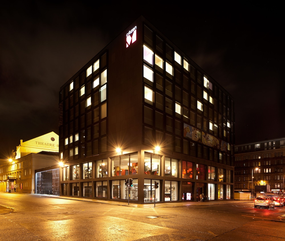 Front of Property - Evening/Night, citizenM Hotel Glasgow