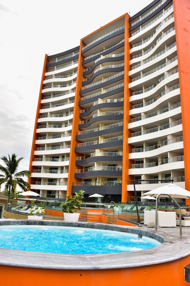 Exterior detail, Sunset Plaza Beach Resort & Spa Pto Vallarta All Inclusive