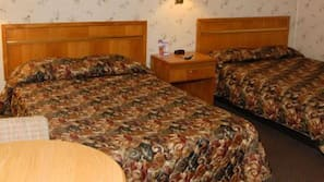 Pillow top beds, iron/ironing board, free WiFi